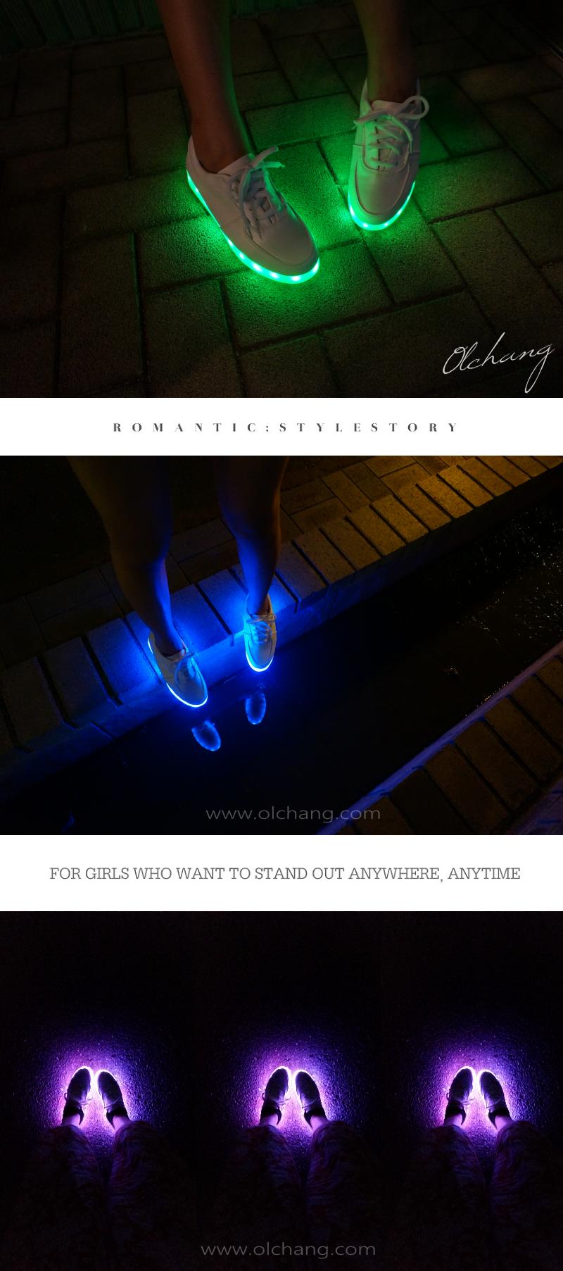 靴底が光る靴LEDスニーカー