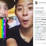 """口から虹がでる""""Snapchat(スナチャ)""""が韓国でも大人気!"""